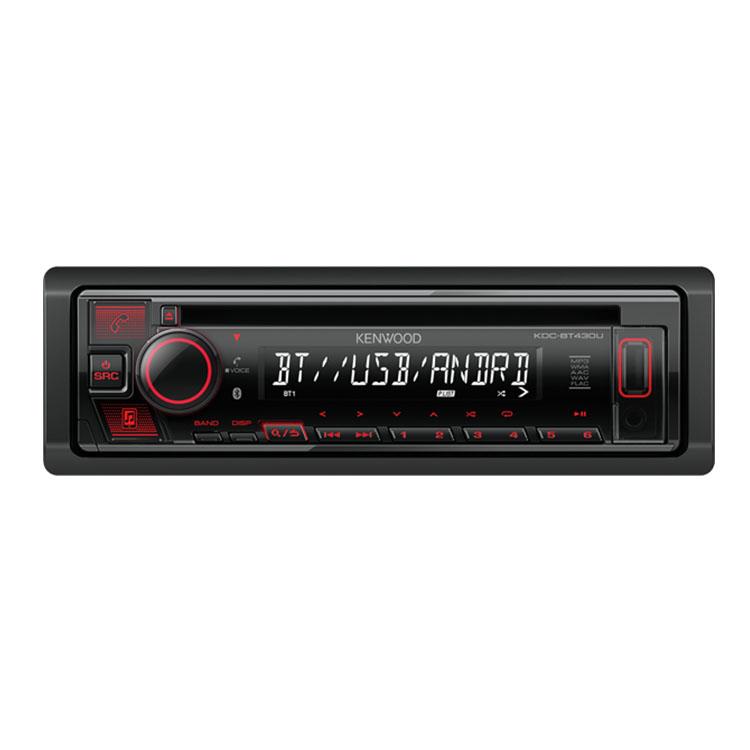 רדיו דיסק עם בלוטות מובנה ומיקרופון חיצוני דגם KDC-BT430U